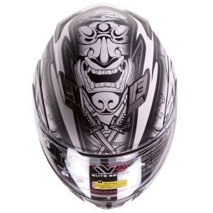 IV2 Dual Visor Modular White Demon Samurai Helmet