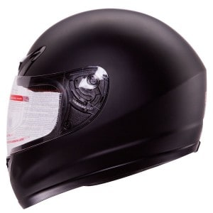 Matte Flat Black Full-Face Motorcycle Helmet DOT from IV2