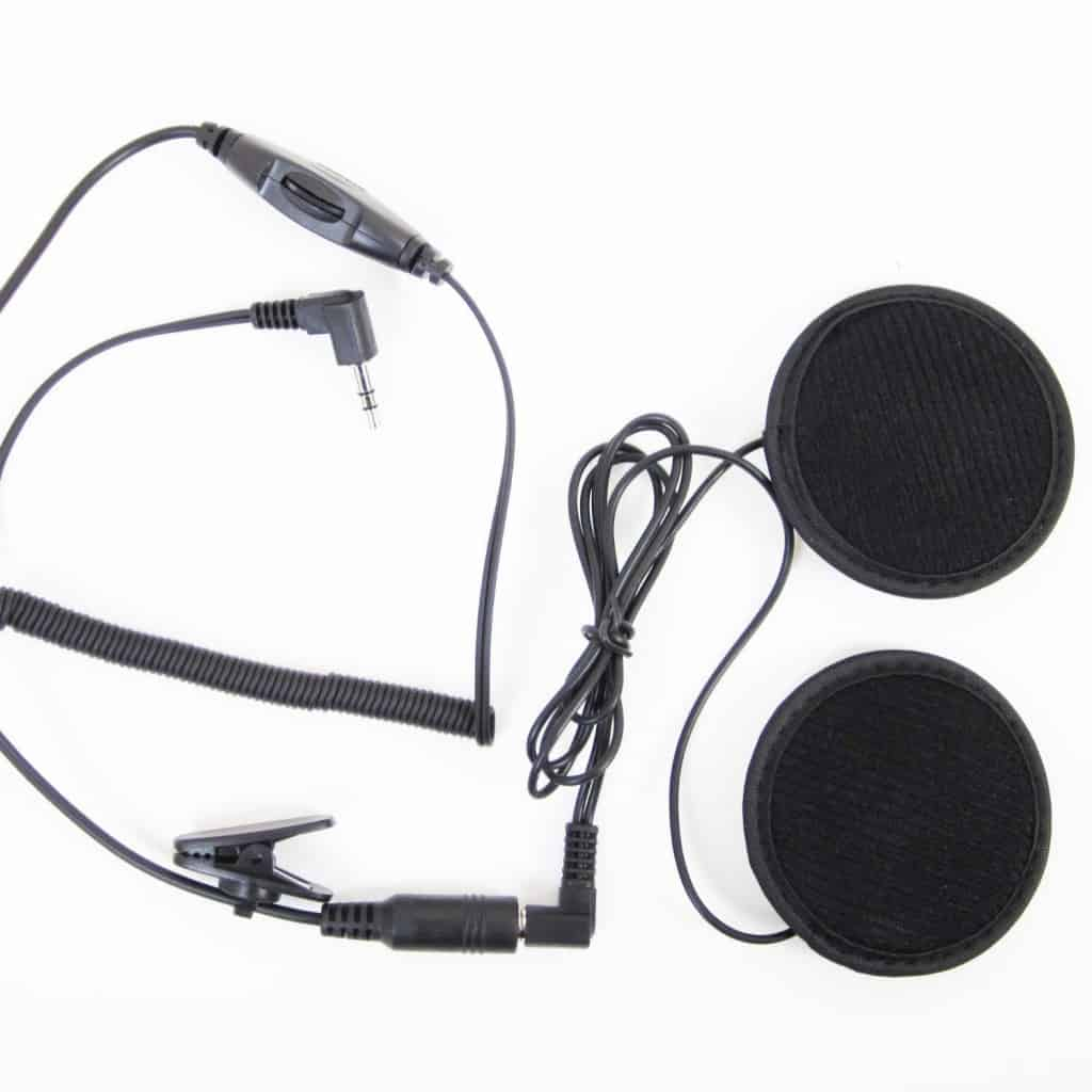 SharkMotorcycleAudio shklxh1 Radio Headset Kit for Half-face Helmet