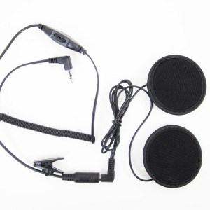 SharkMotorcycleAudio shklxh1 Radio Headset Kit for Half-face Helmet