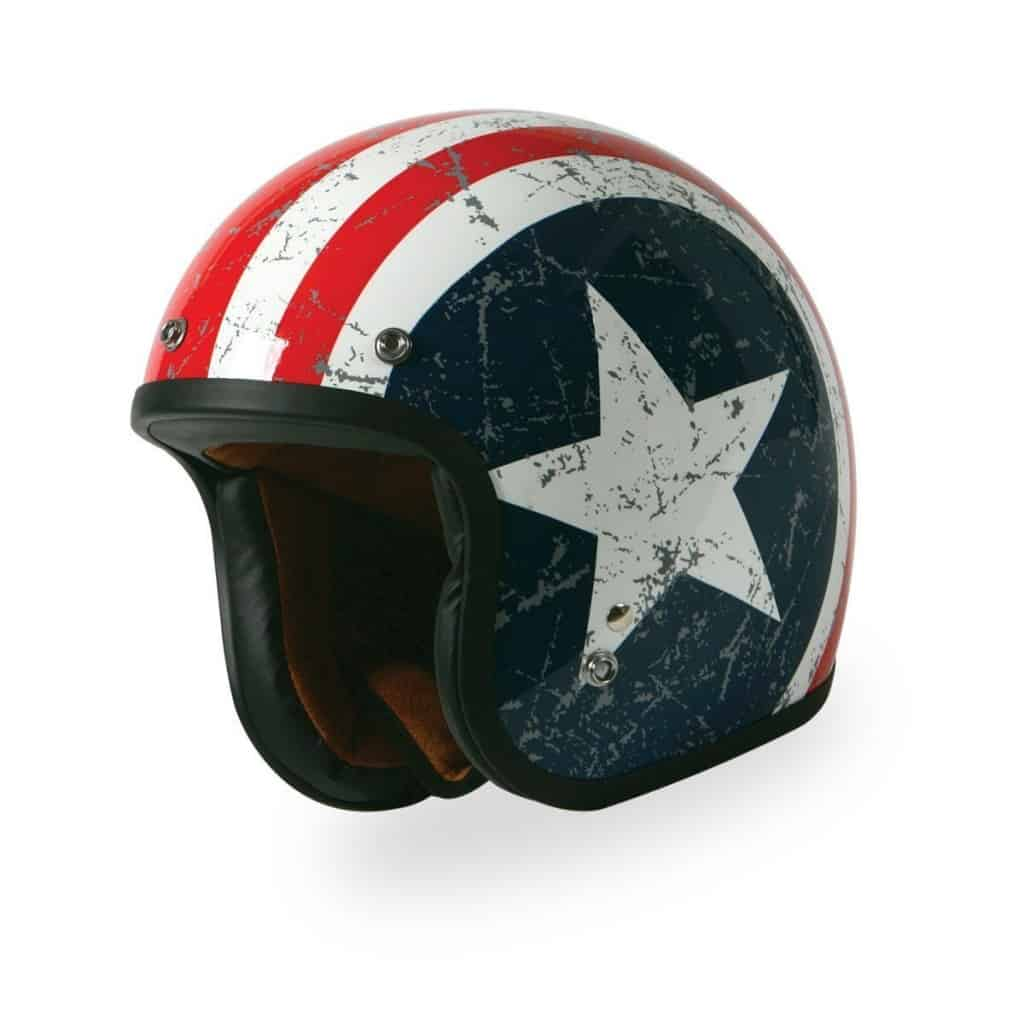 Novelty Rebel Star Open Face Helmet