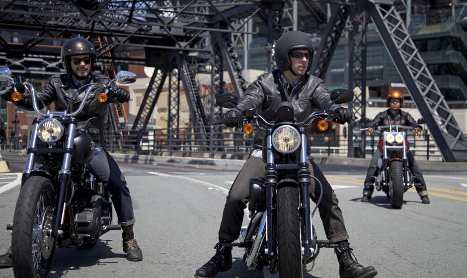 Motorbike street ride
