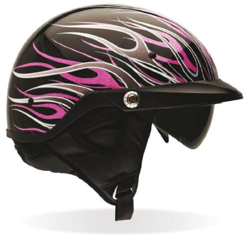 Bell Women's Pit Boss Flames Motorcycle Half Helmet