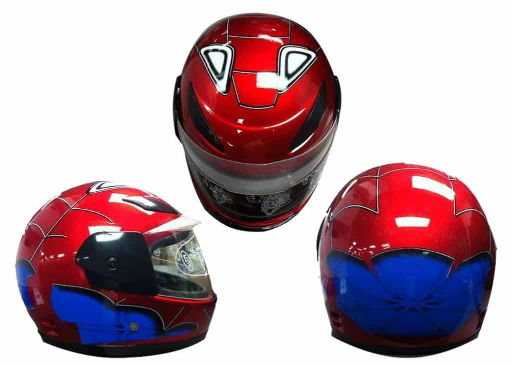 Kids Full Face Spiderman Motorcycle Helmet