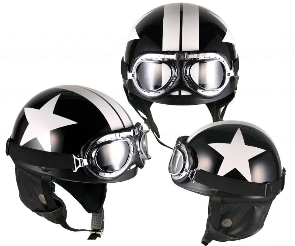 Novelty German Chrome Chopper Biker Helmet