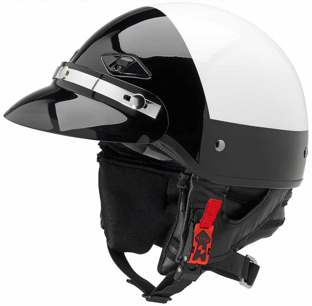 Official Police Motorcycle Helmet with Smoked Snap-On Visor