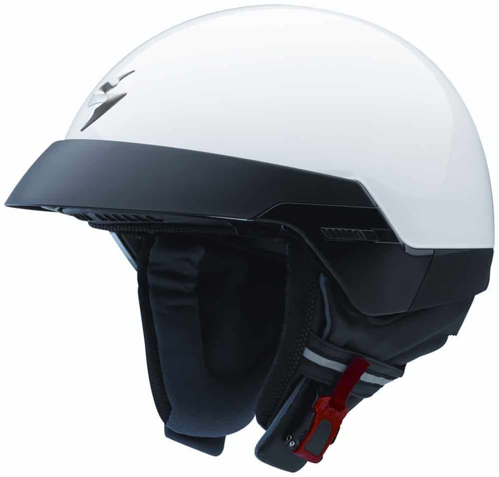 Scorpion EXO-100 Solid White Large Open Face Helmet