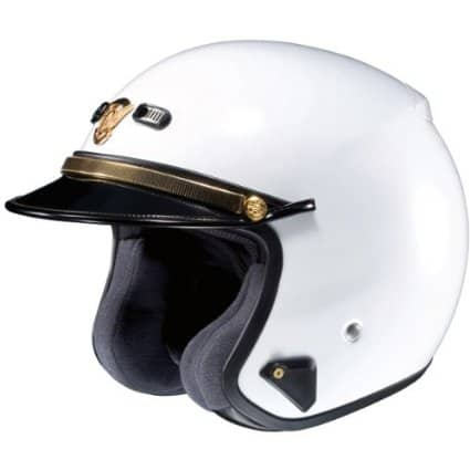 Shoei RJ Platinum-LE Solid White Police Helmet