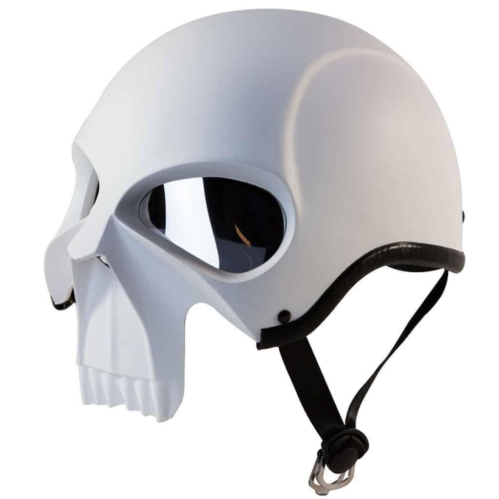 3D skull half helmet