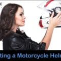 Correctly fltting a motorcycle helmet