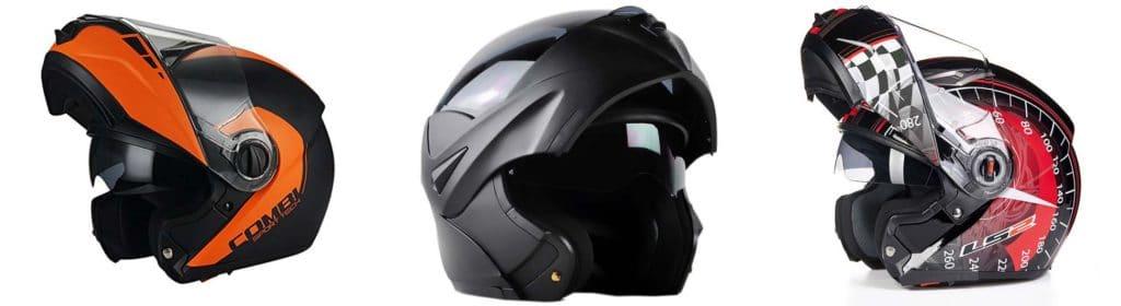 Various modular helmet styles