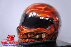 Custom airbrush motocycle helmet