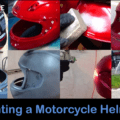 paint a motorcycle helmet