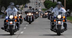 Police bike rally
