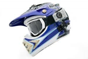 motorcycle helmet with gopro camera mounted