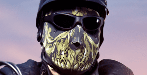 Wearing a mask under you full face helmet is a good trick