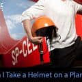 Can I take a motorcycle helmet on a plane
