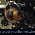 where to hang your helmet when you are out and about