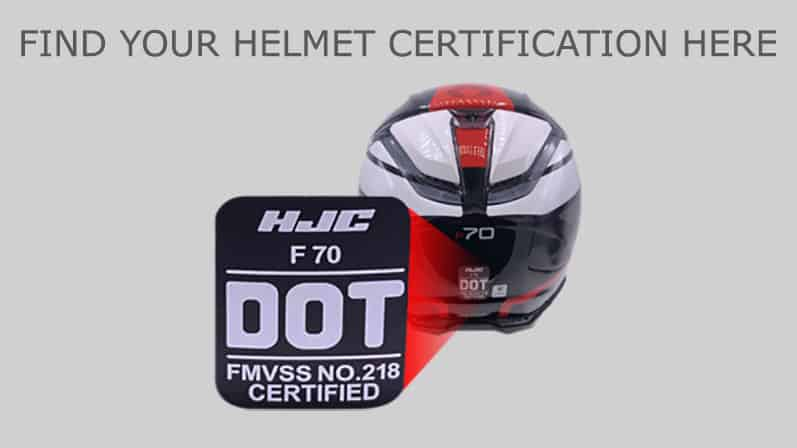 Where to find the helmet certification label