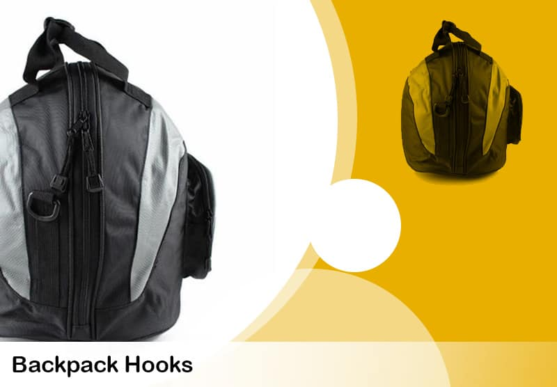 hooks to hang you backpack with a helmet inside